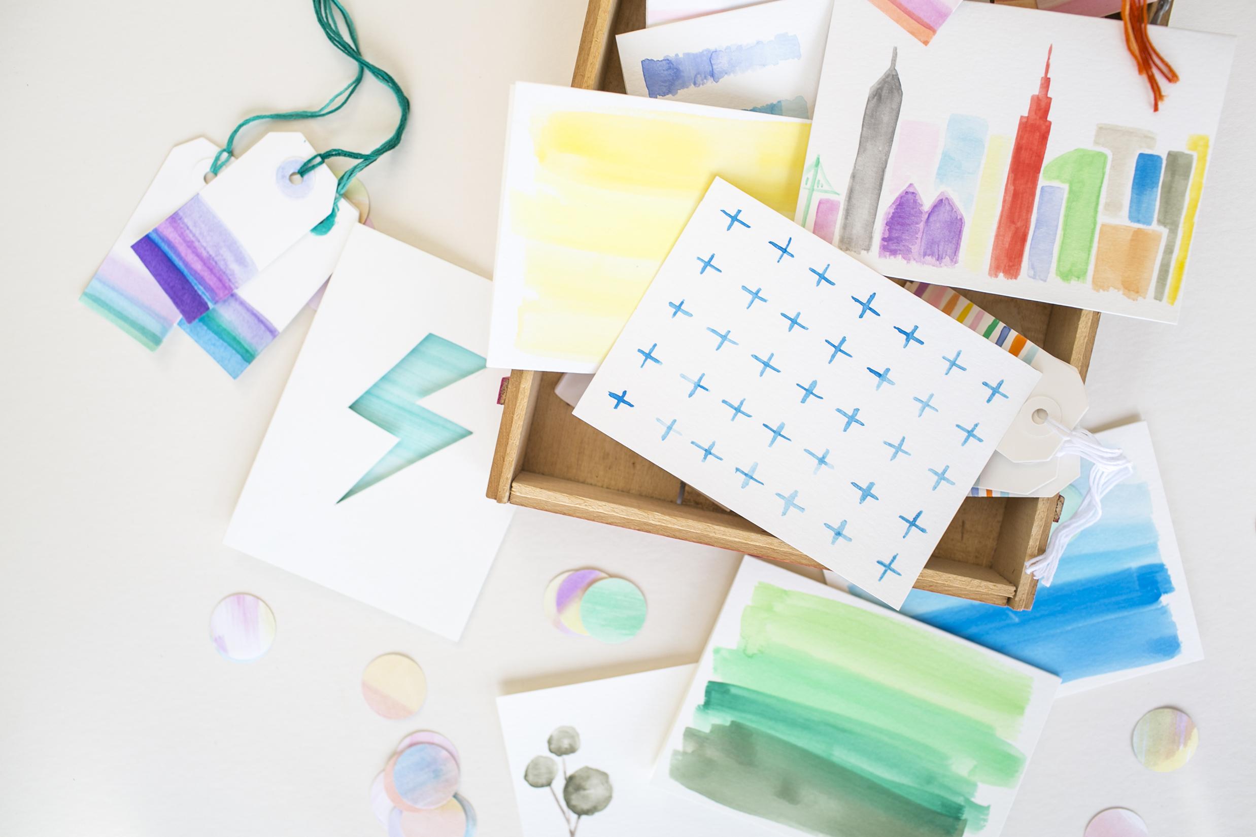 Hand-Painted Watercolor Paper Goods  for  Charlotte Lane |  Heidi Geldhauser