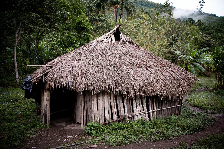 Sus casas de habitación son fabricadas, en su gran mayoría, de madera y láminas de metal, quedan muy pocas viviendas fabricadas en estilo indígena, a base de caña brava y astillones con piso de tierra y agua conducida por mangueras.