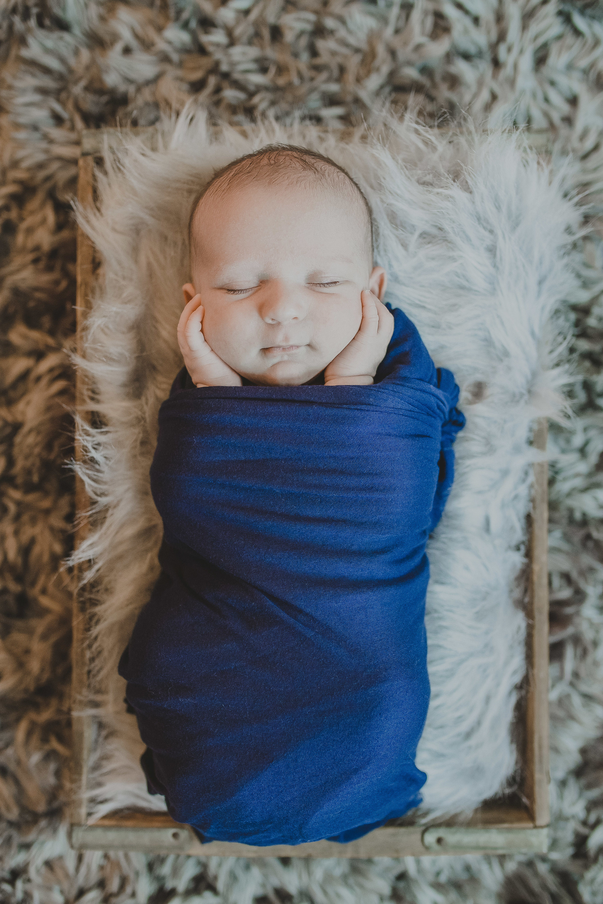 Brayden Alexander Martz Blue Wrap Newborn