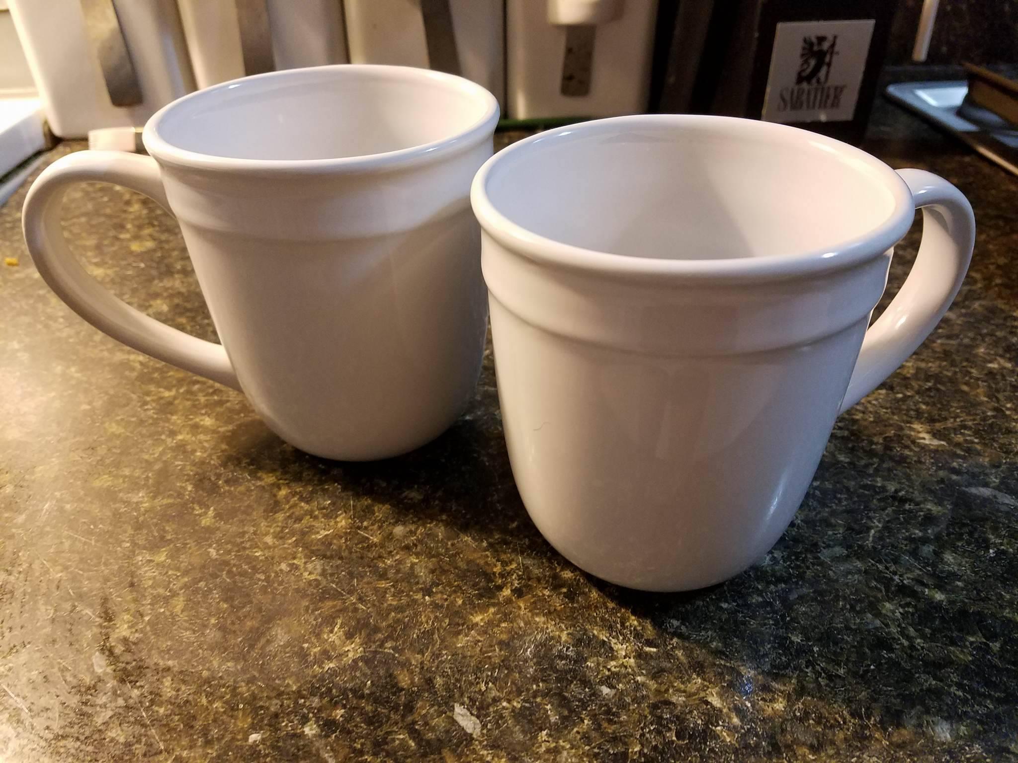 White Mugs from Walmart