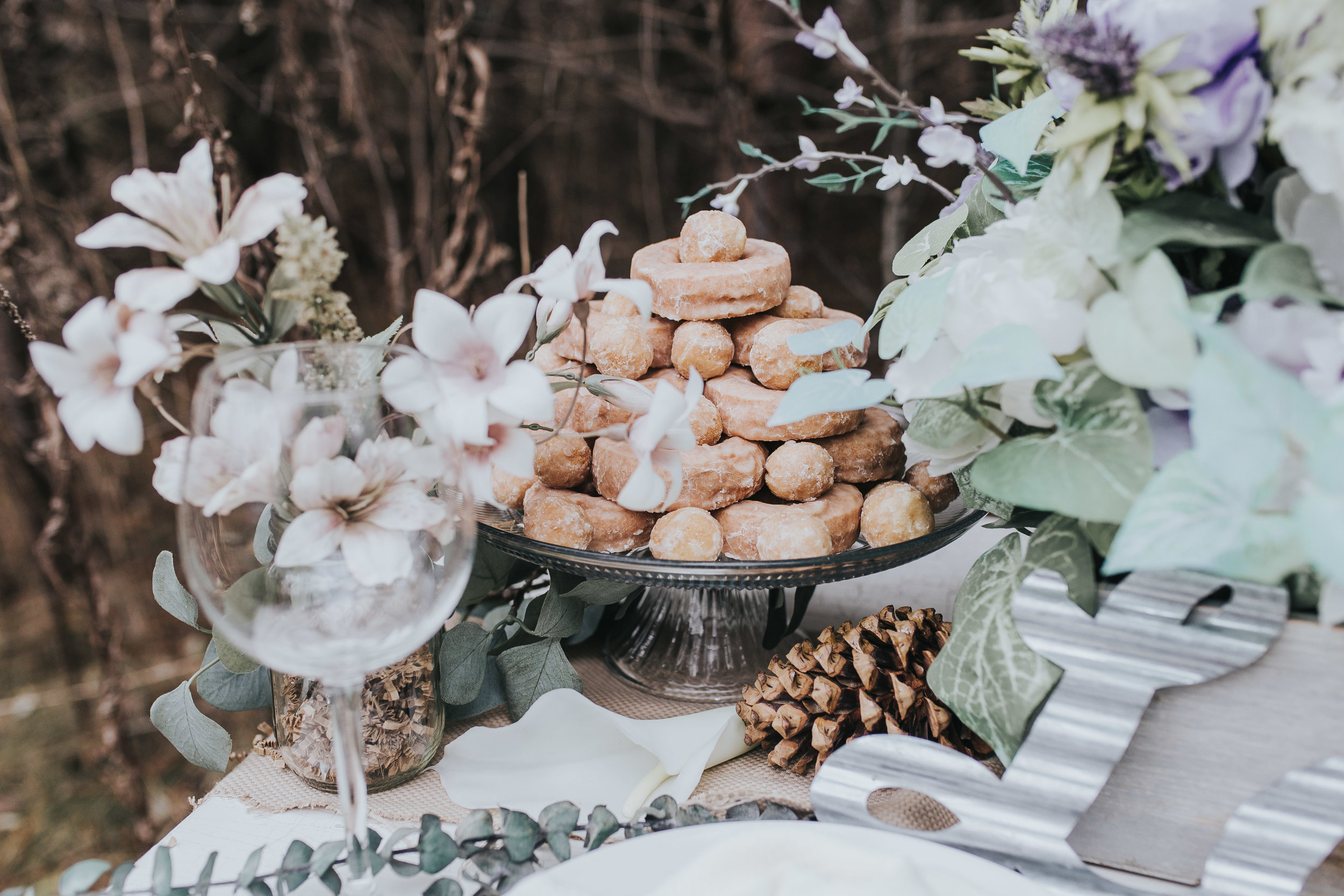 donut cake from styled shoot in Novi Michigan