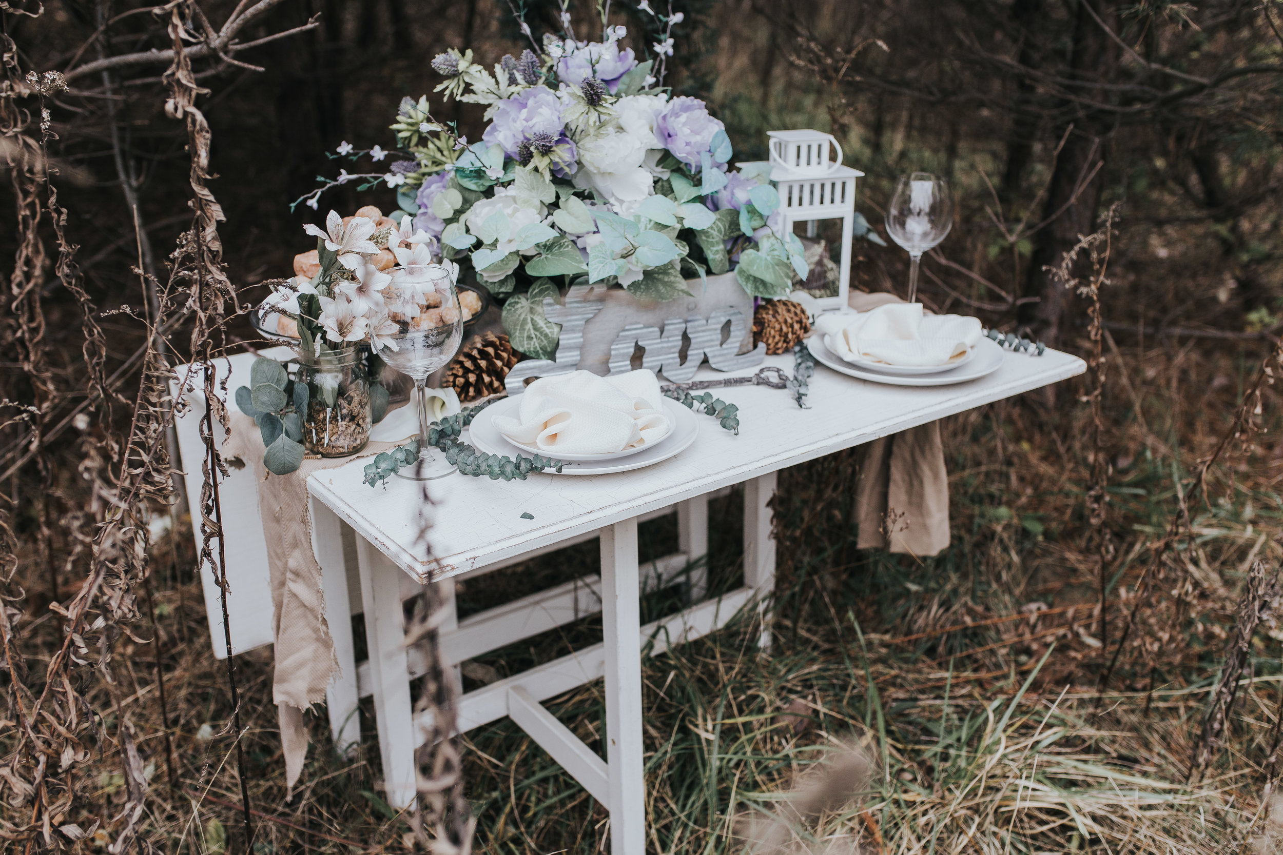 Whole table setting from styled shoot in novi michigan