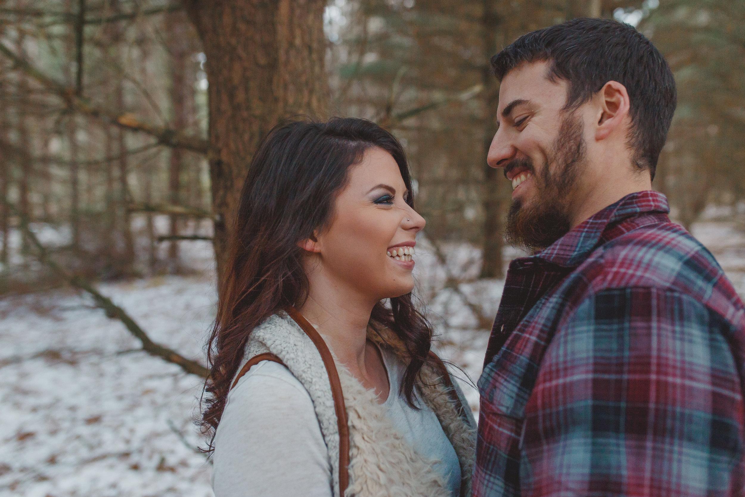 Bryan Palmer and Marista Jones Couples session Grass Lake michigan