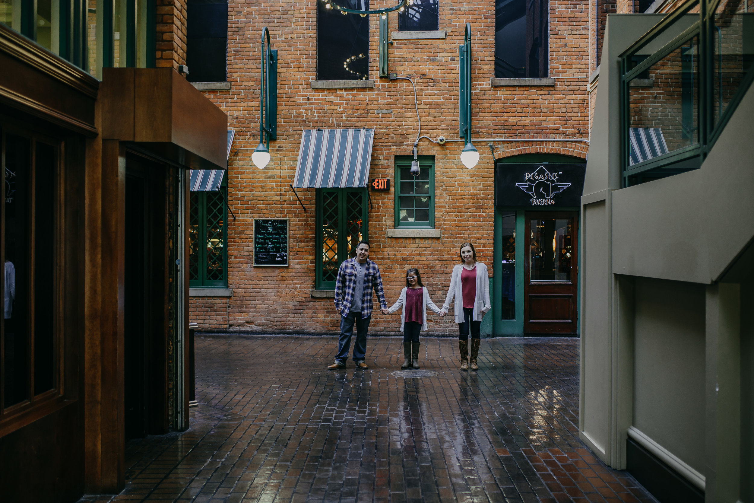 Chelsea + Jesse Engagement Trappers Alley in Greektown Detroit Michigan Wedding Photographer Catchfly Photography Novi Michigan