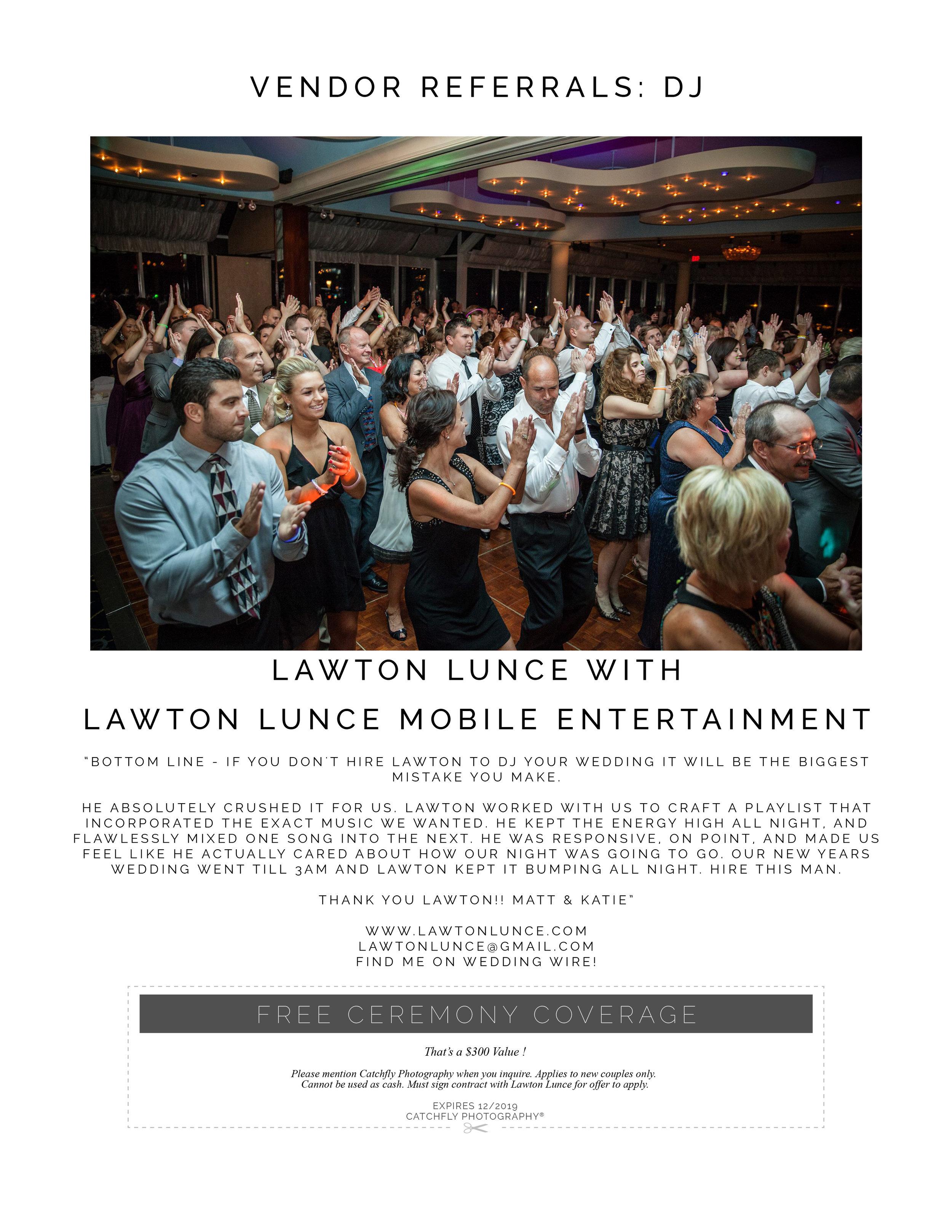 Lawton Lunce Mobile Entertainment Catchfly Photography Vendor Referral