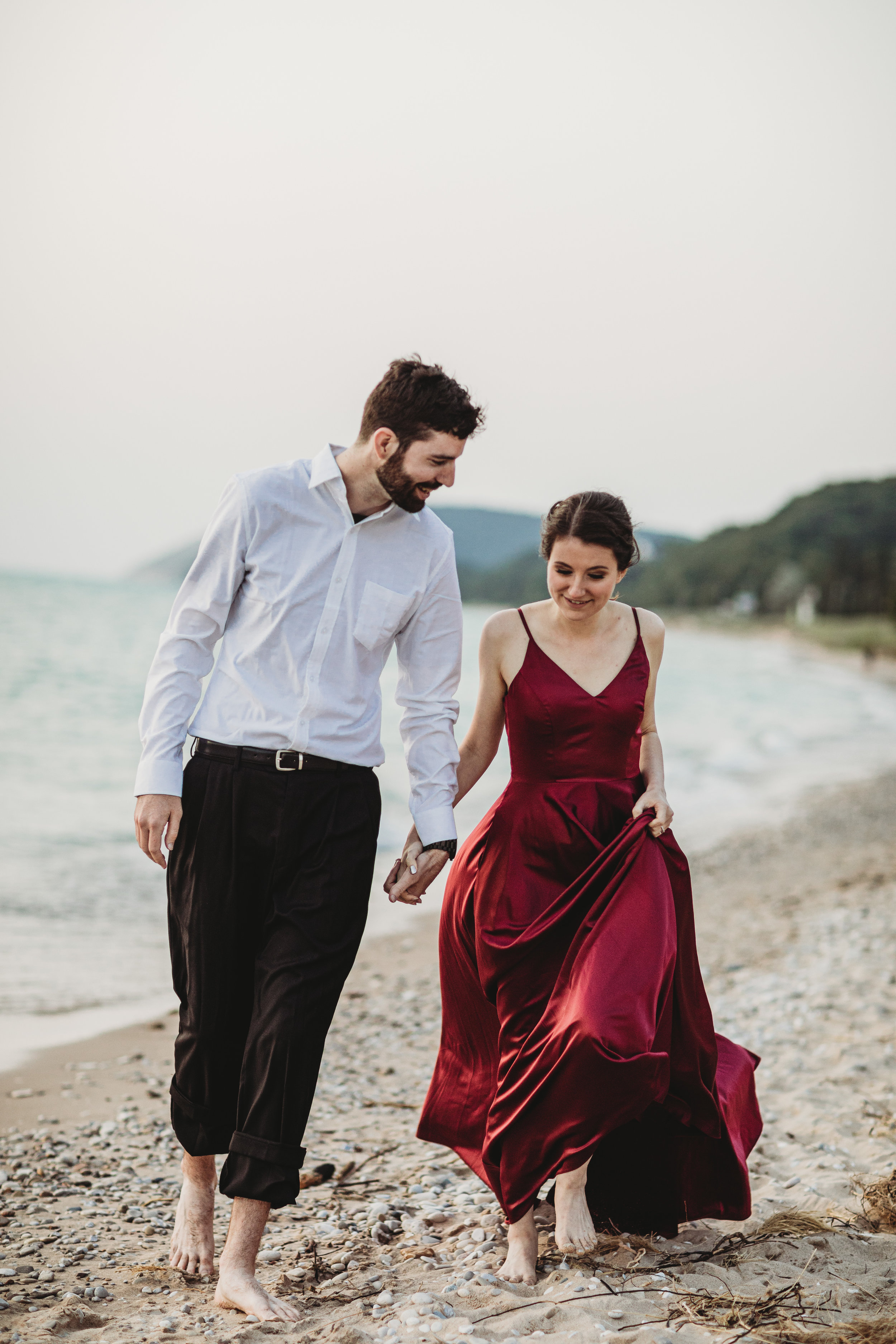 Katie + Austin Sleeping Bear Dunes Engagement Session-45.jpg
