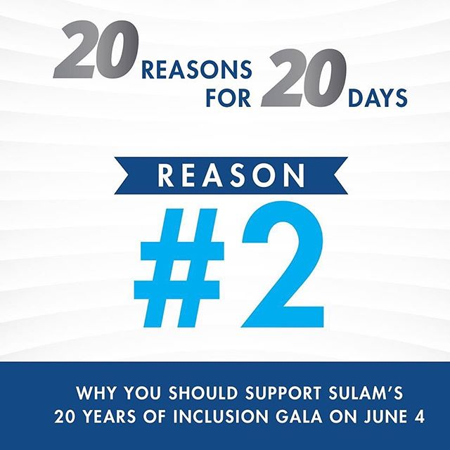 Reason #2 :  Our Faculty. Sulam's faculty are experts in their fields, all working to ensure the growth and success of our students. www.sulam.org/gala #sulamgala #20yearsofinclusion