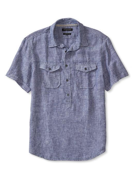 Woven + Collar + Pockets