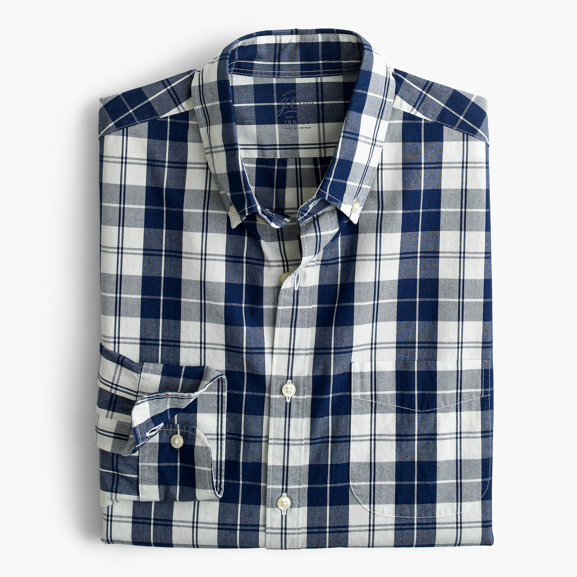 J.Crew Indigo Plaid