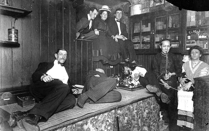 Opium den, New York City, late 1800s