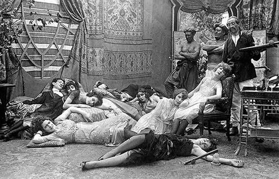 Opium salon, early 1900s