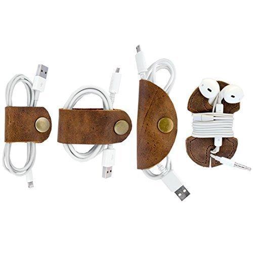 Hide & Drink Rustic Cord Keeper 4-Pack, Bourbon Brown $20