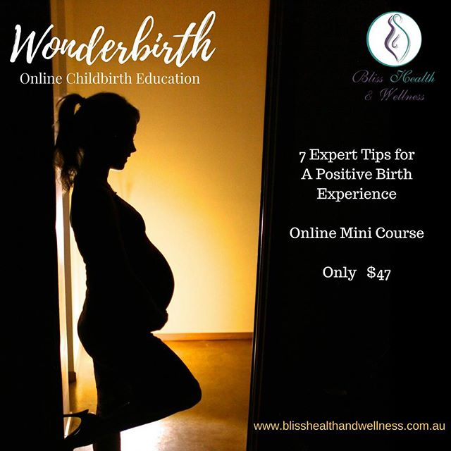 🤰🏼Are you pregnant? Do you have a pregnant friend? Read on... You can get my online mini course '7 Tips to a Positive Birth Experience' for just $47.  This course is full of the info you find out after you give birth that you wish you knew beforehand.  How to choose your care provider, how to prepare your mind and body to birth, how to make the most of your individual experience so that you feel empowered and ready to approach parenthood with confidence and joy.  It also includes a gentle workout video from @__kylie.anderson suitable for pregnancy and from 6wks postpartum.  There are worksheets to individualise your learning and make it work for you and your individual family circumstances.  This is more than a class on birthing. It's a course on holistic pregnancy care and empowering the mother to birth with wonder (whatever that looks like for you 😉) www.blisshealthandwellness.com.au  #wonderbirth #childbirtheducation #blissbaby #happybubs #newmum #blisshealthwellness #newparents #birtheducation #baby #minfulness #parenting #pregnancy #holisticpregnancy #birthwithwonder