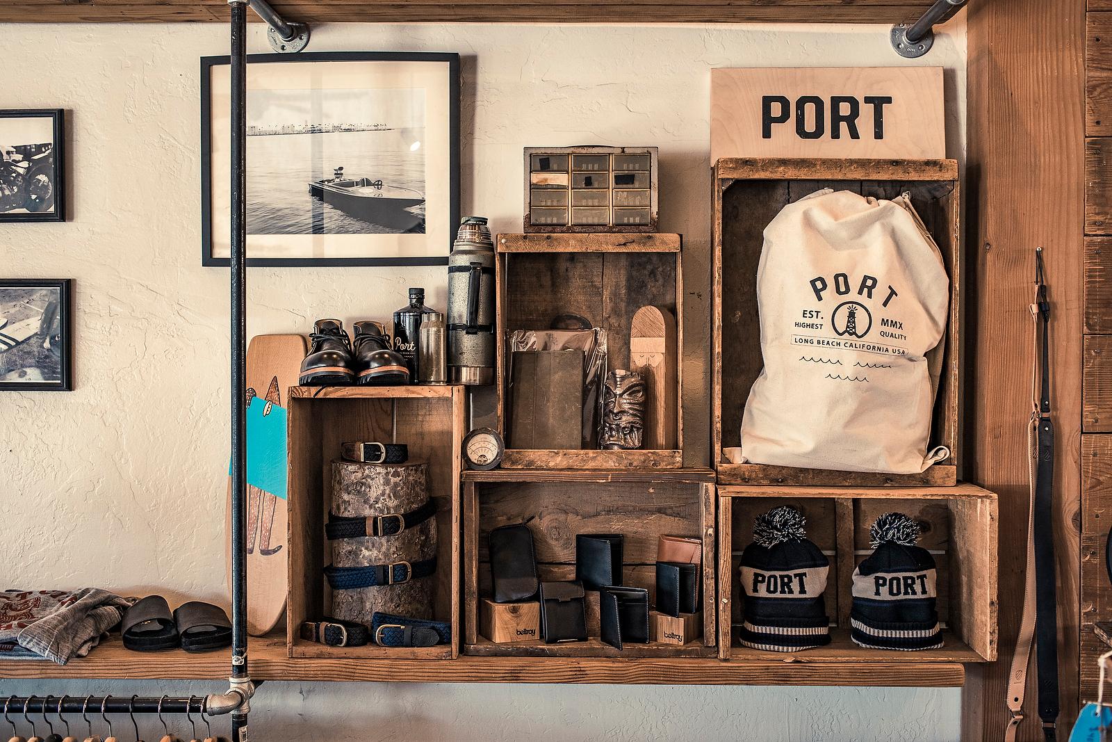 Port clothing display