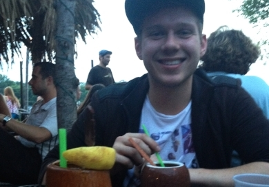 The BEST way to end a day = Tiki bar with my little brother
