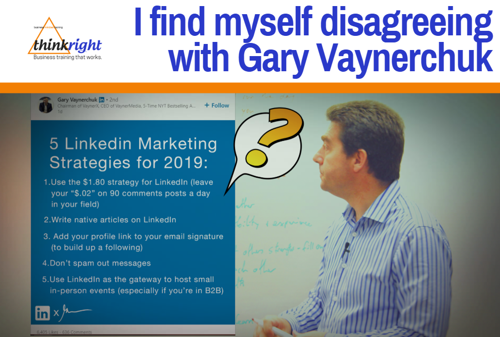 Mike Clark looks at Gary Vaynerchuk LinkedIn Post