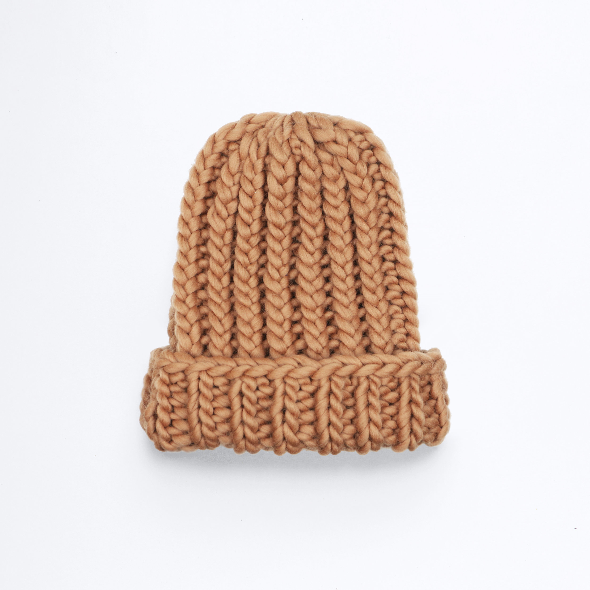 THE BIGGER THE BETTER BEANIE - Caramel