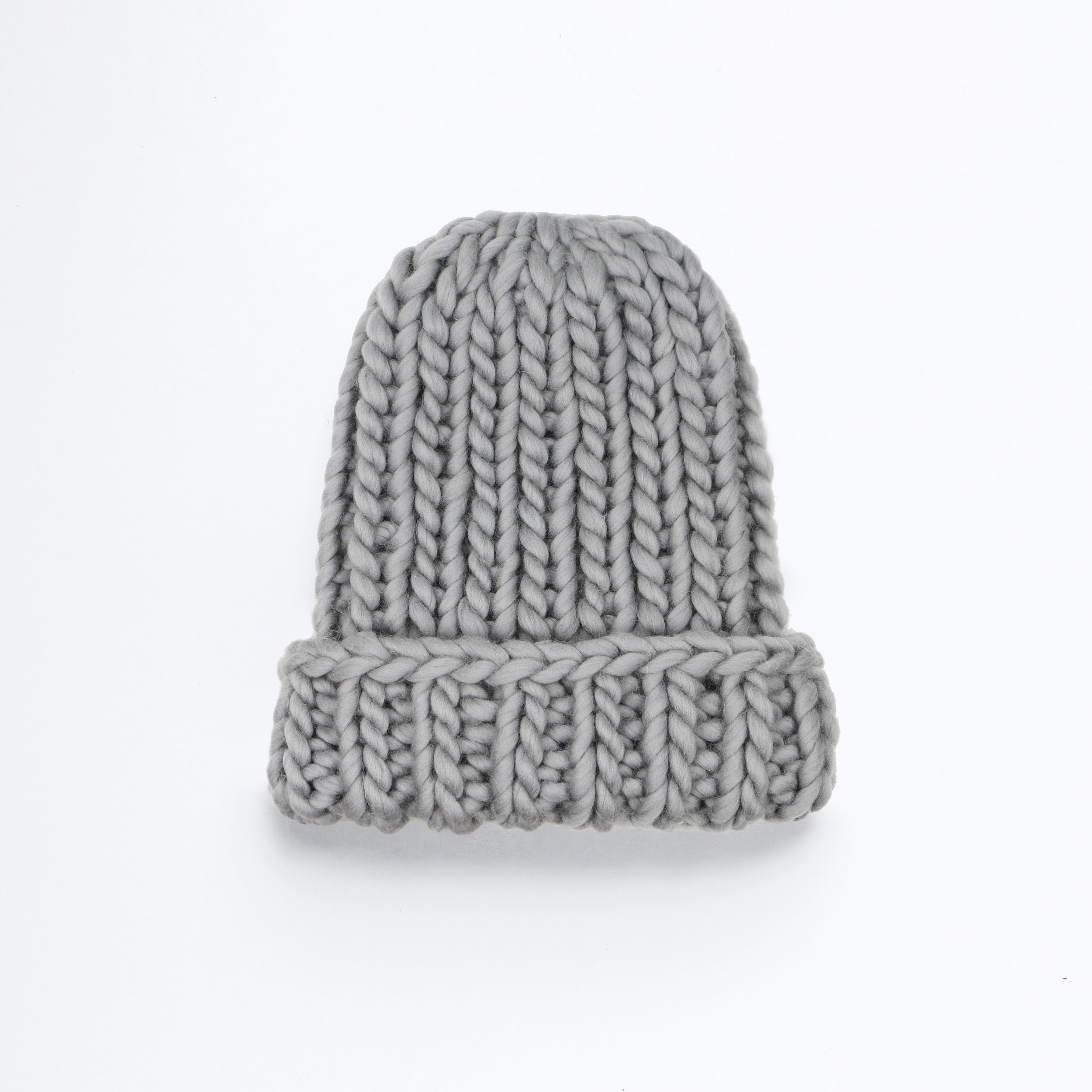 GO BIG OR GO HOME BEANIE - Granite