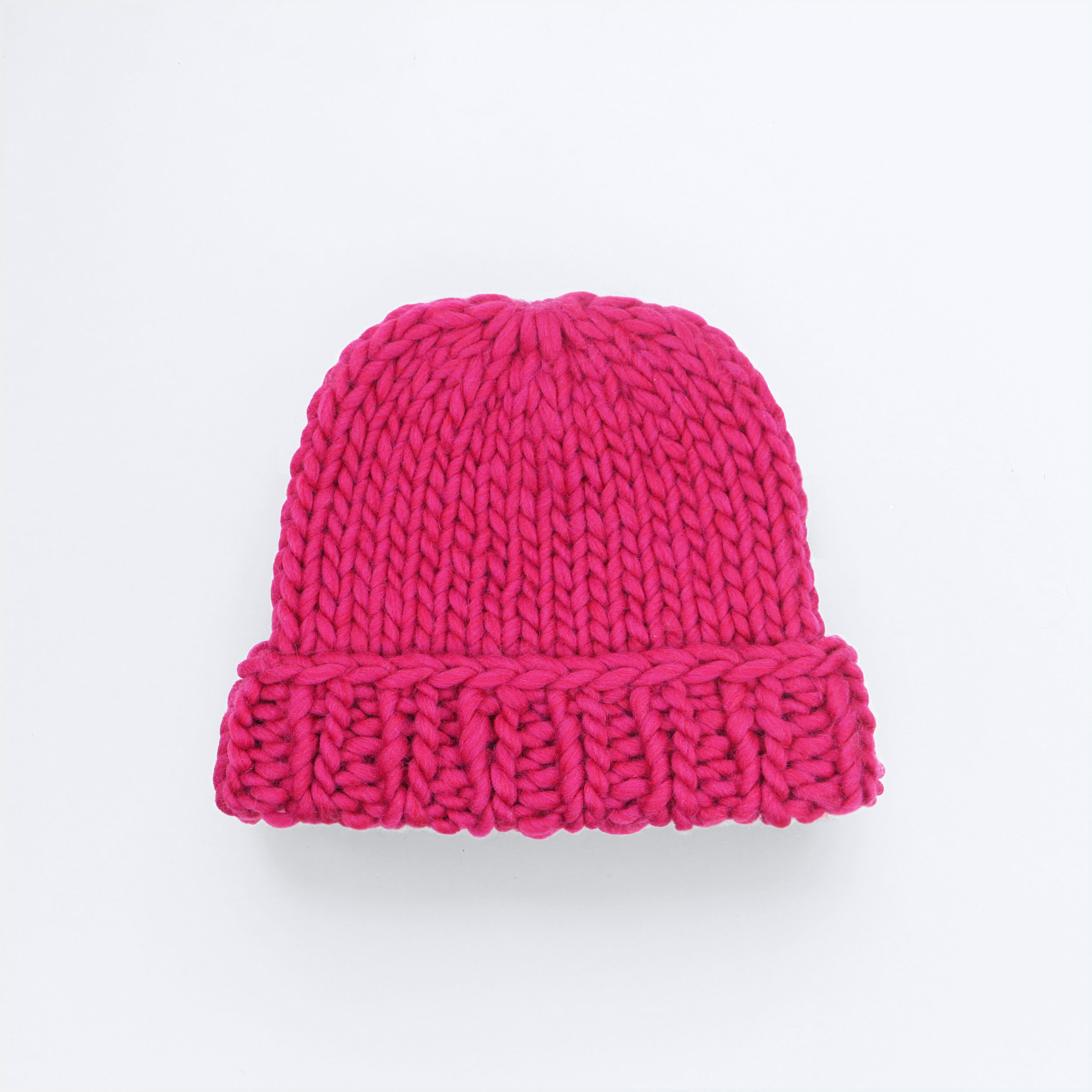 MAKE IT BIG BEANIE - Hot pink