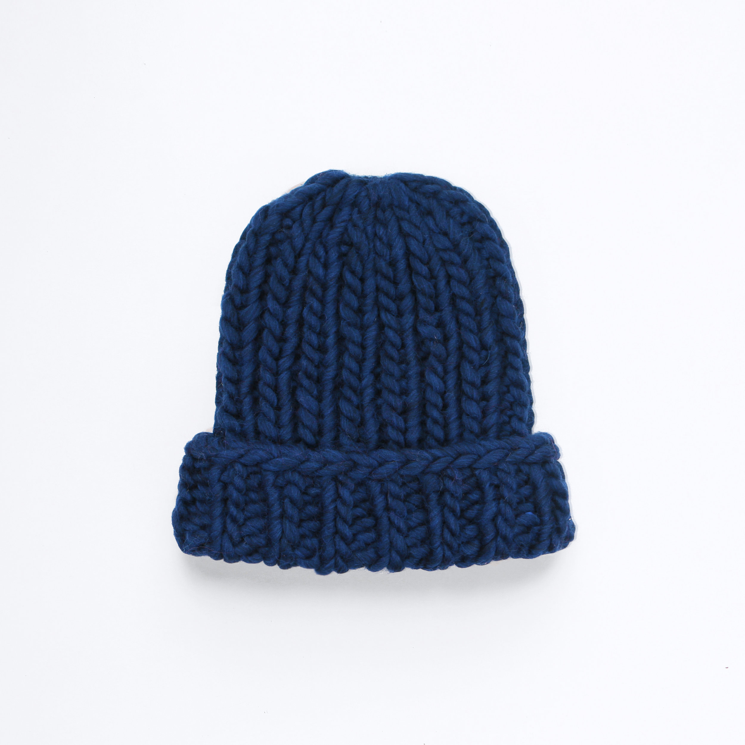 GO BIG OR GO HOME BEANIE - Midnight blue