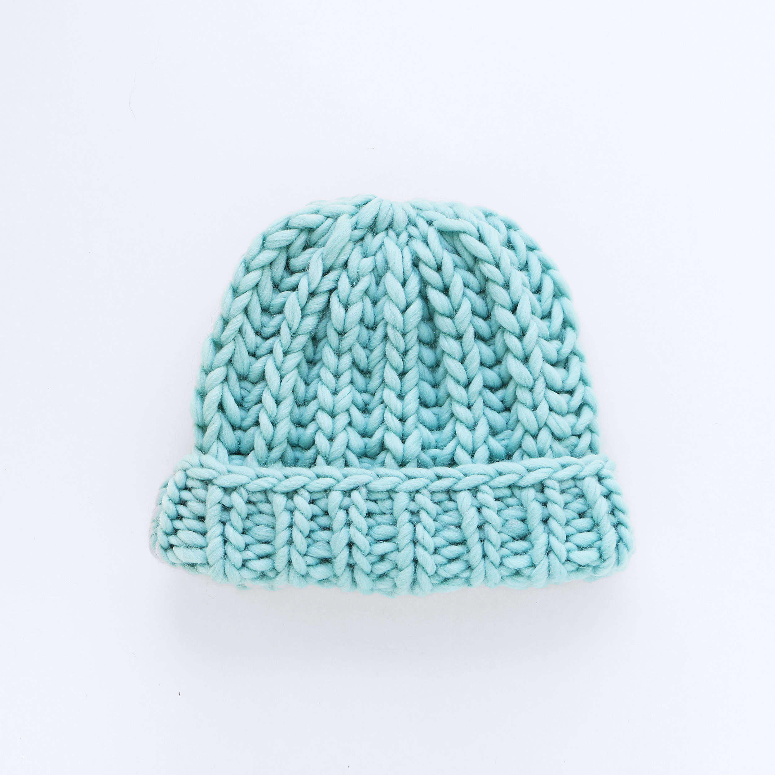MR BIG BEANIE - Light Blue