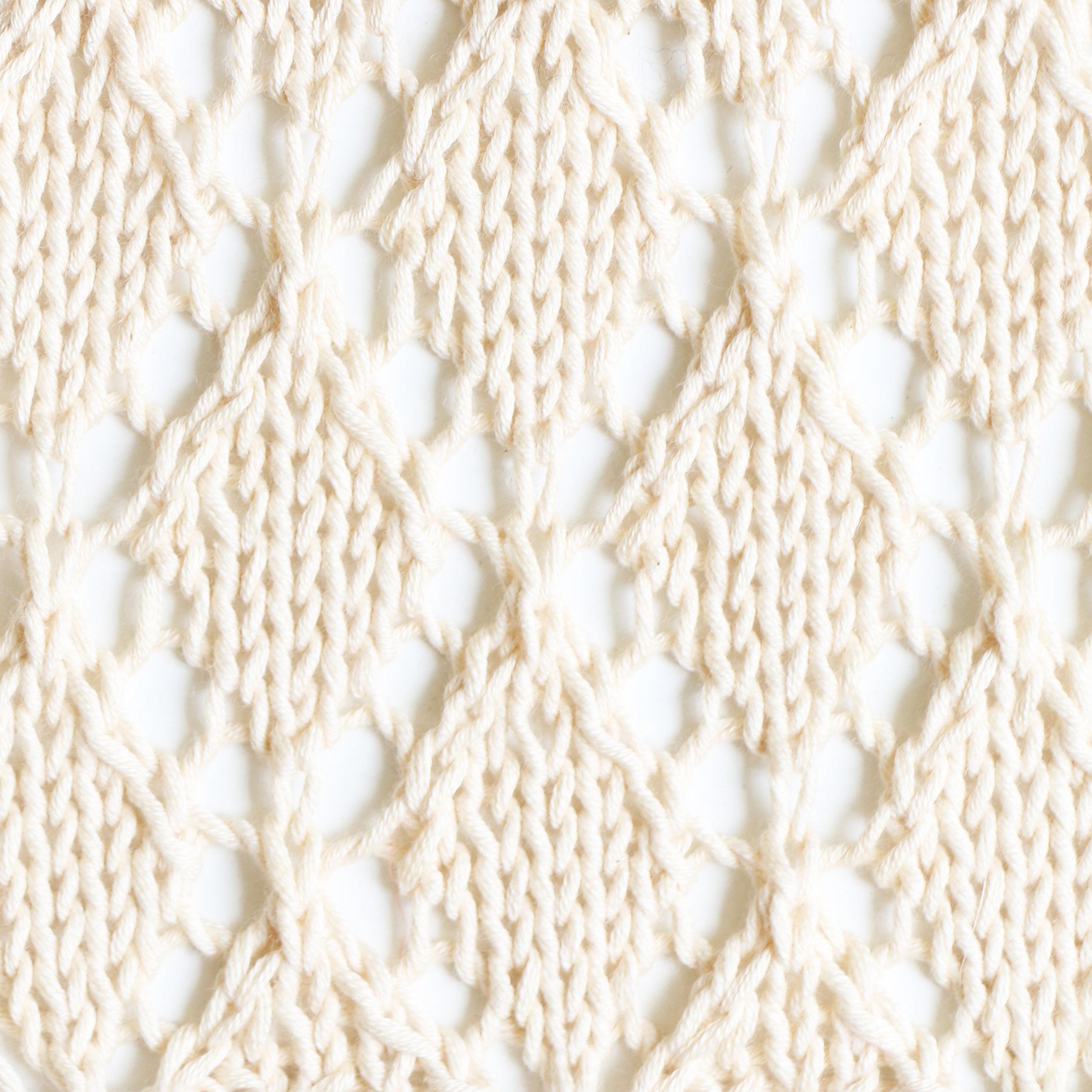 diamond lace knitting