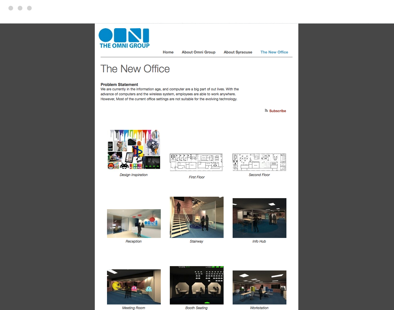 Build a website for final presentation.