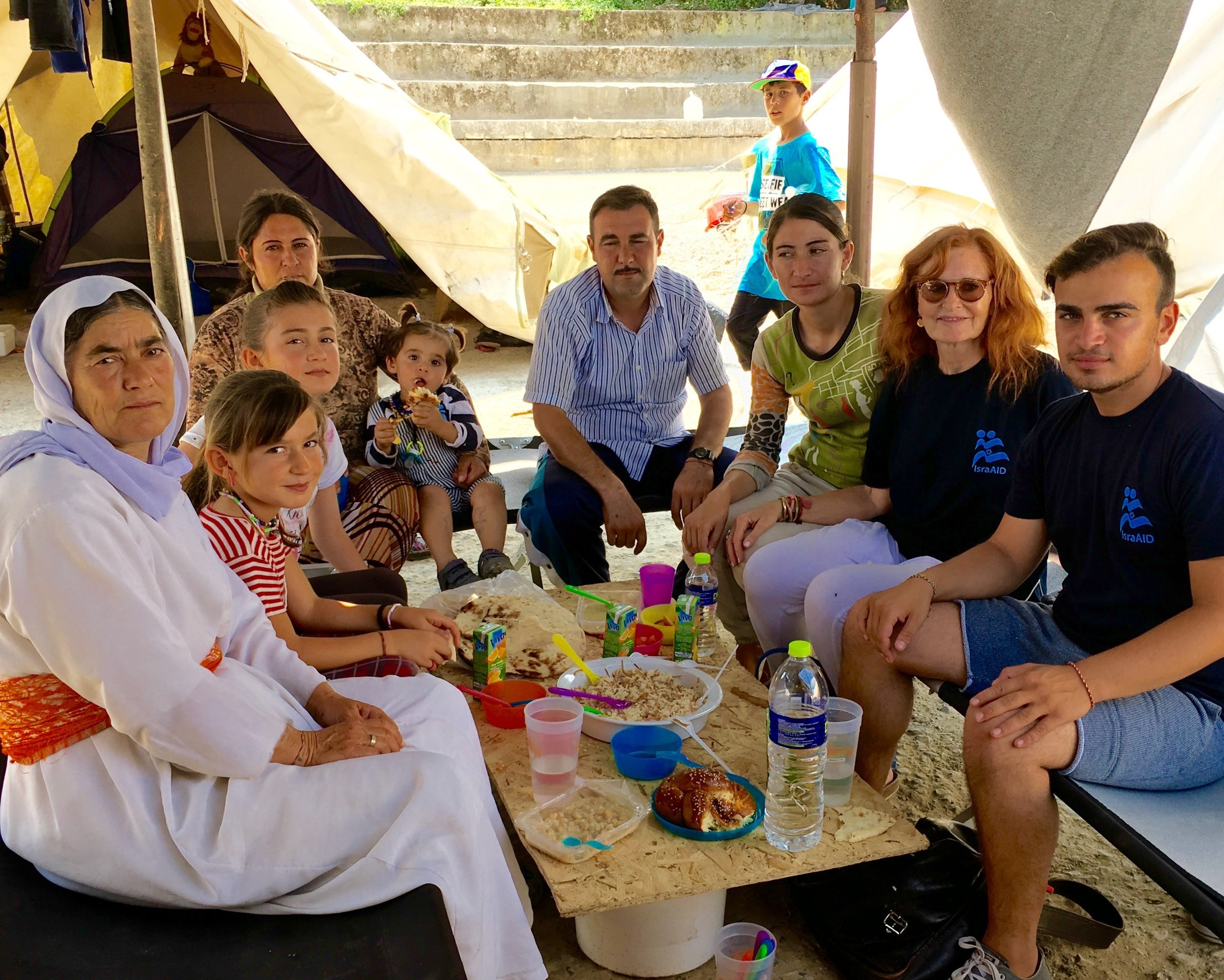Lunch in Petra Camp for Yazidi Refugees, Thessaloniki, Greece