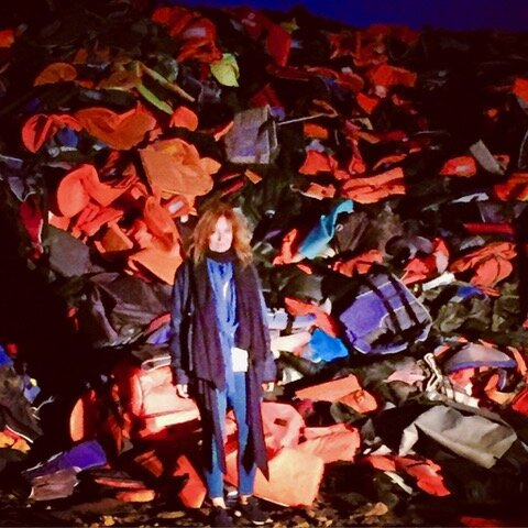 Mountain of life jackets