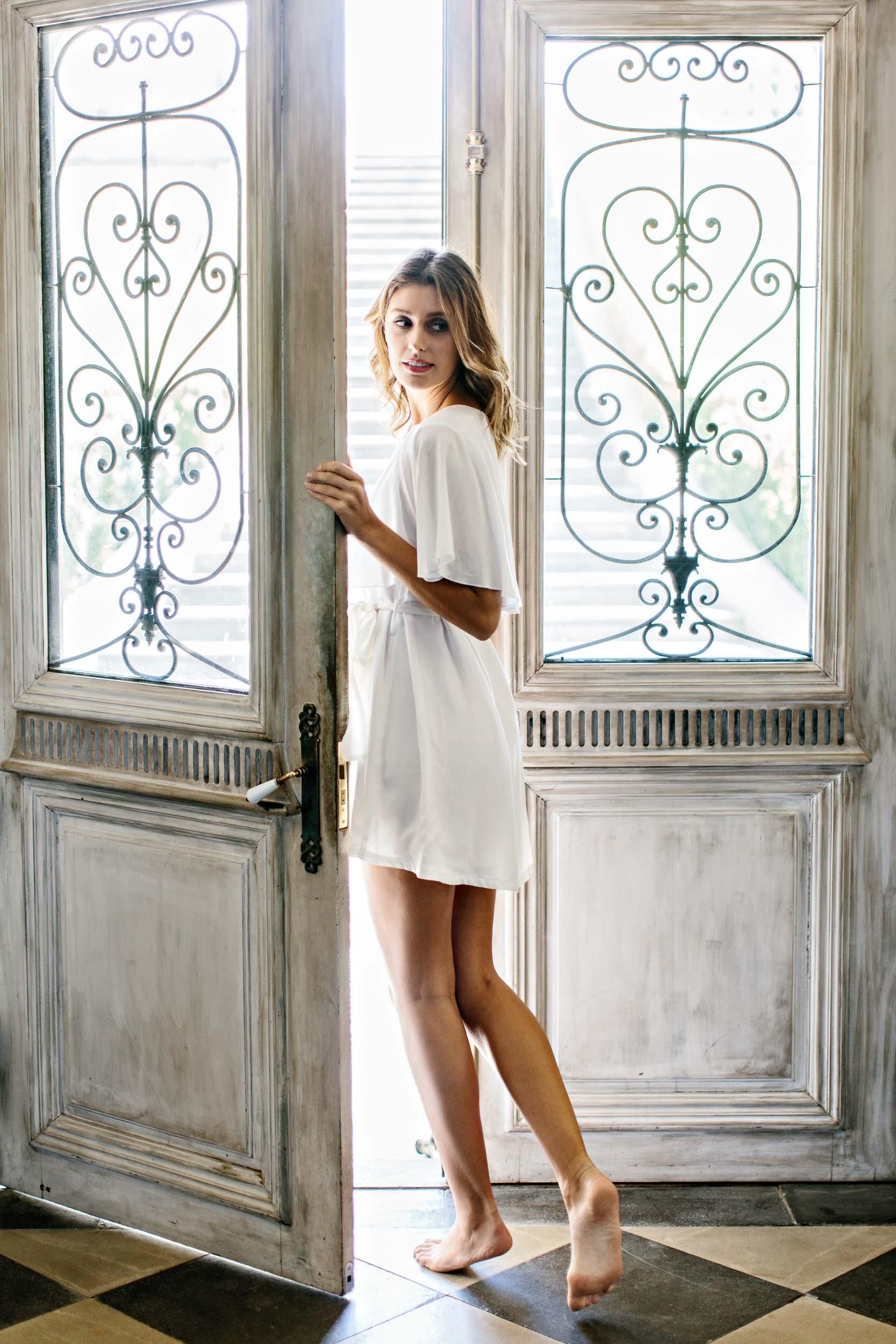 Bohemian Cotton Bridal Robe | Wedding Photography by Kas Richards