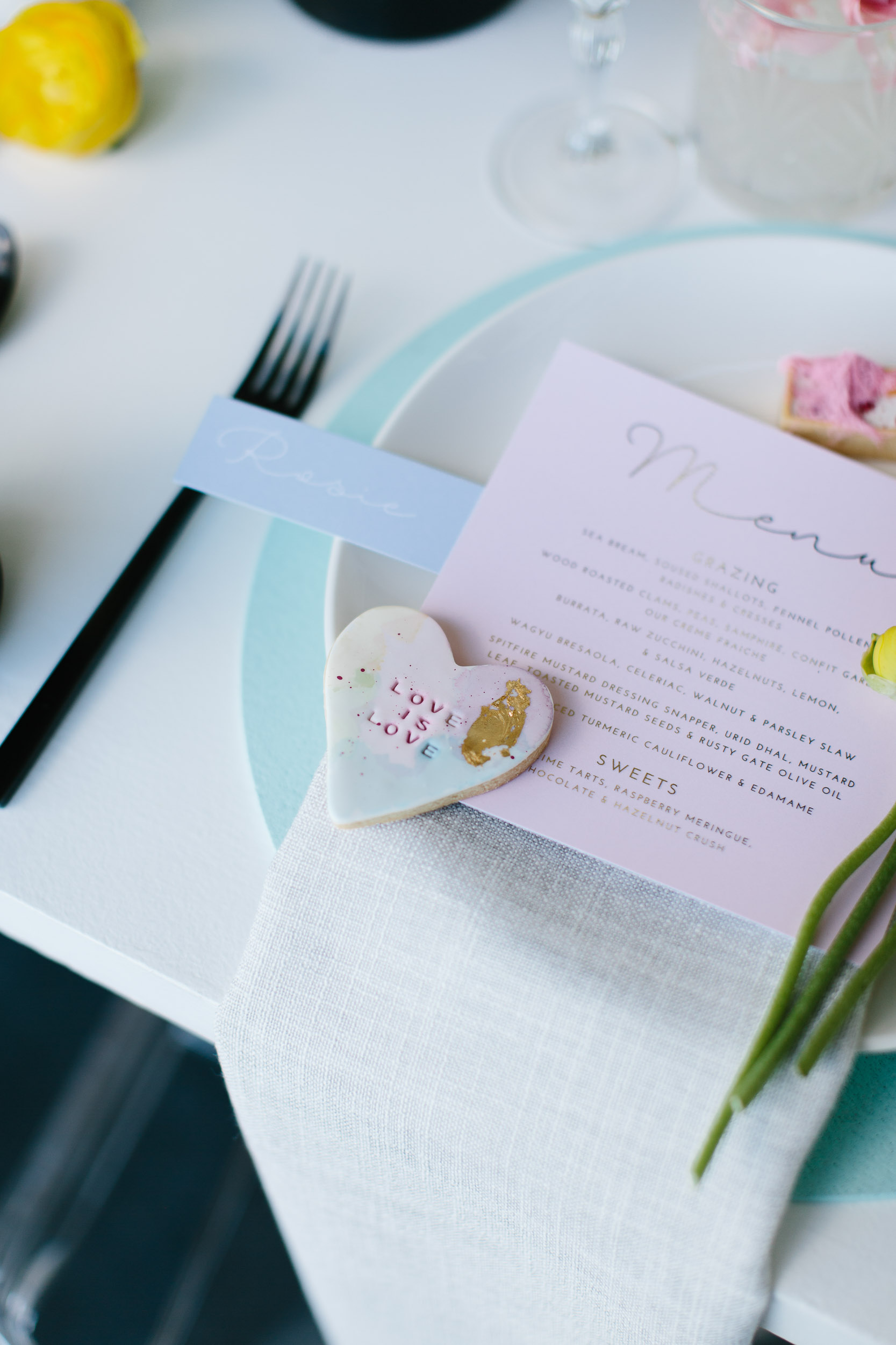 Luxe Pastel Pink Menus | Wedding Photography by Kas Richards