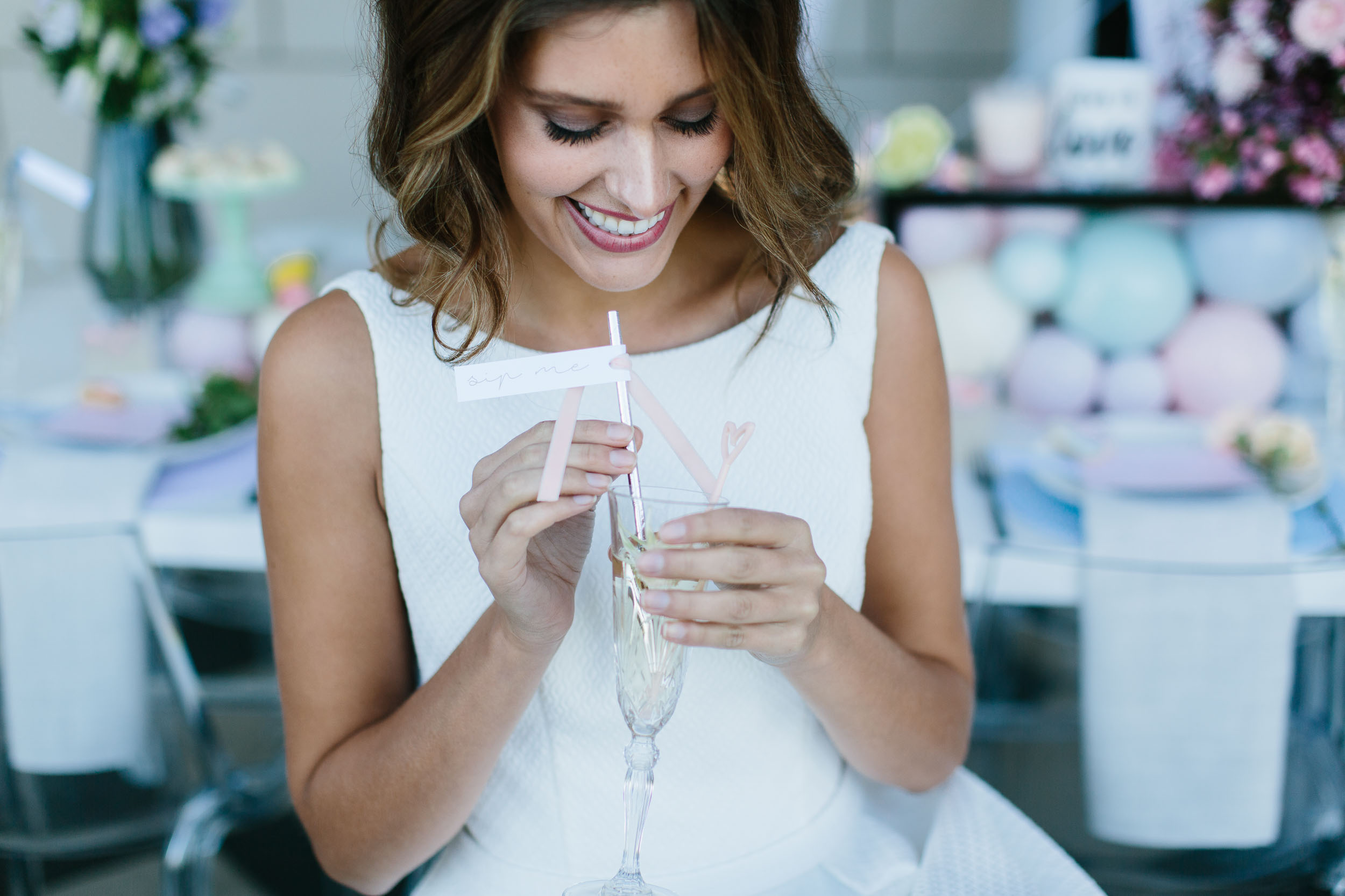 Bride Drinking Champagne | Wedding Photography by Kas Richards