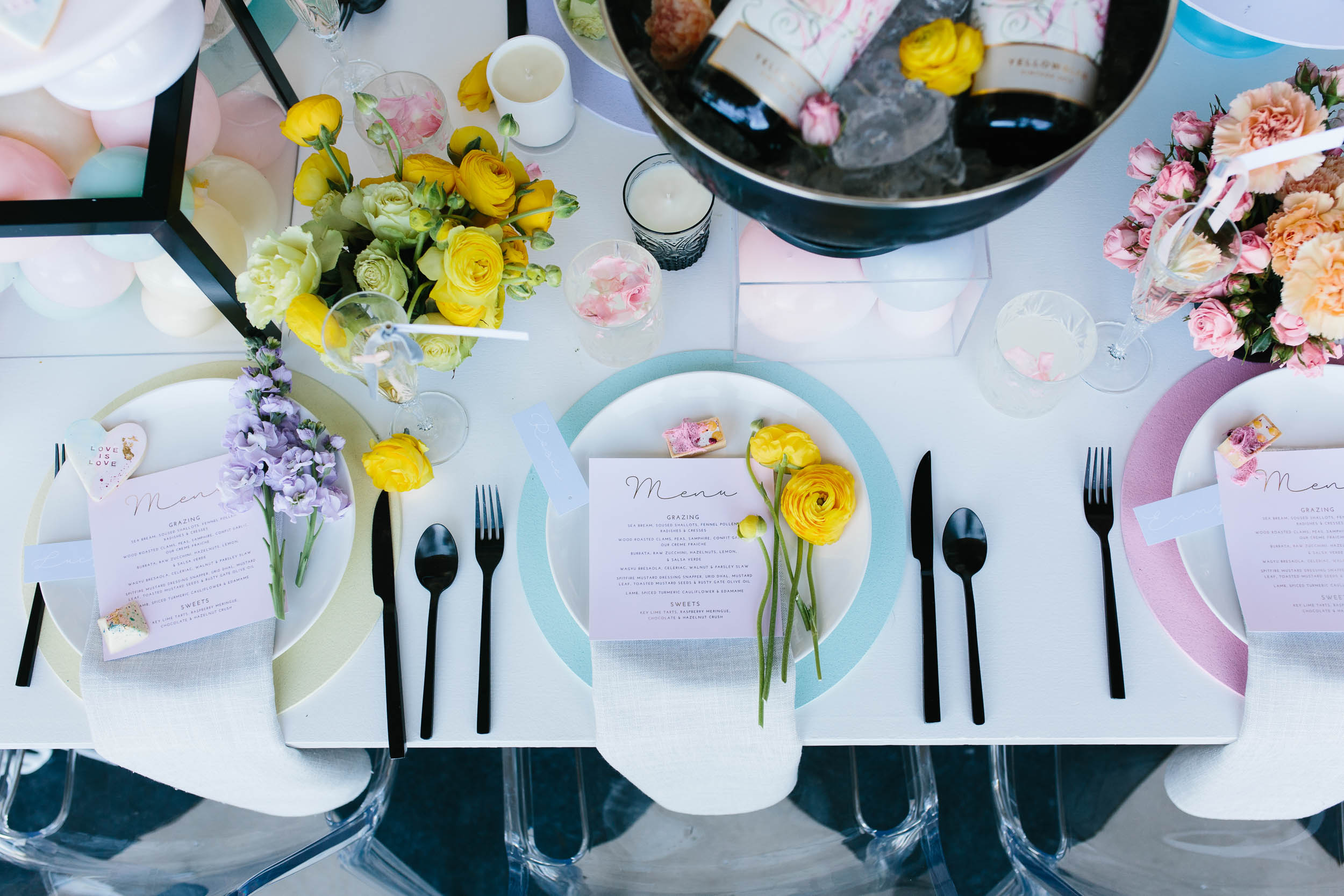 Luxe Pastel Pink Wedding Table Setting | Wedding Photography by Kas Richards