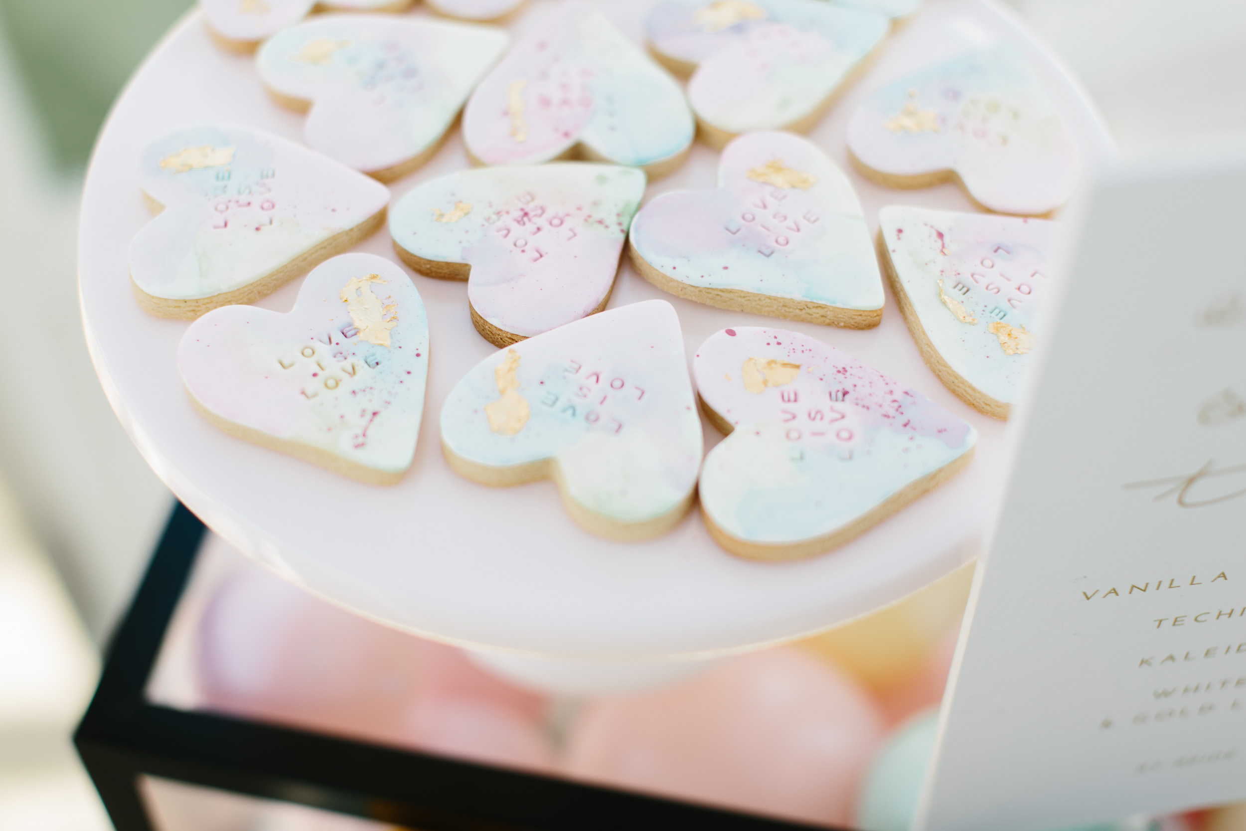 Custom Stamped Love Heart Cookies  | Wedding Photography by Kas Richards