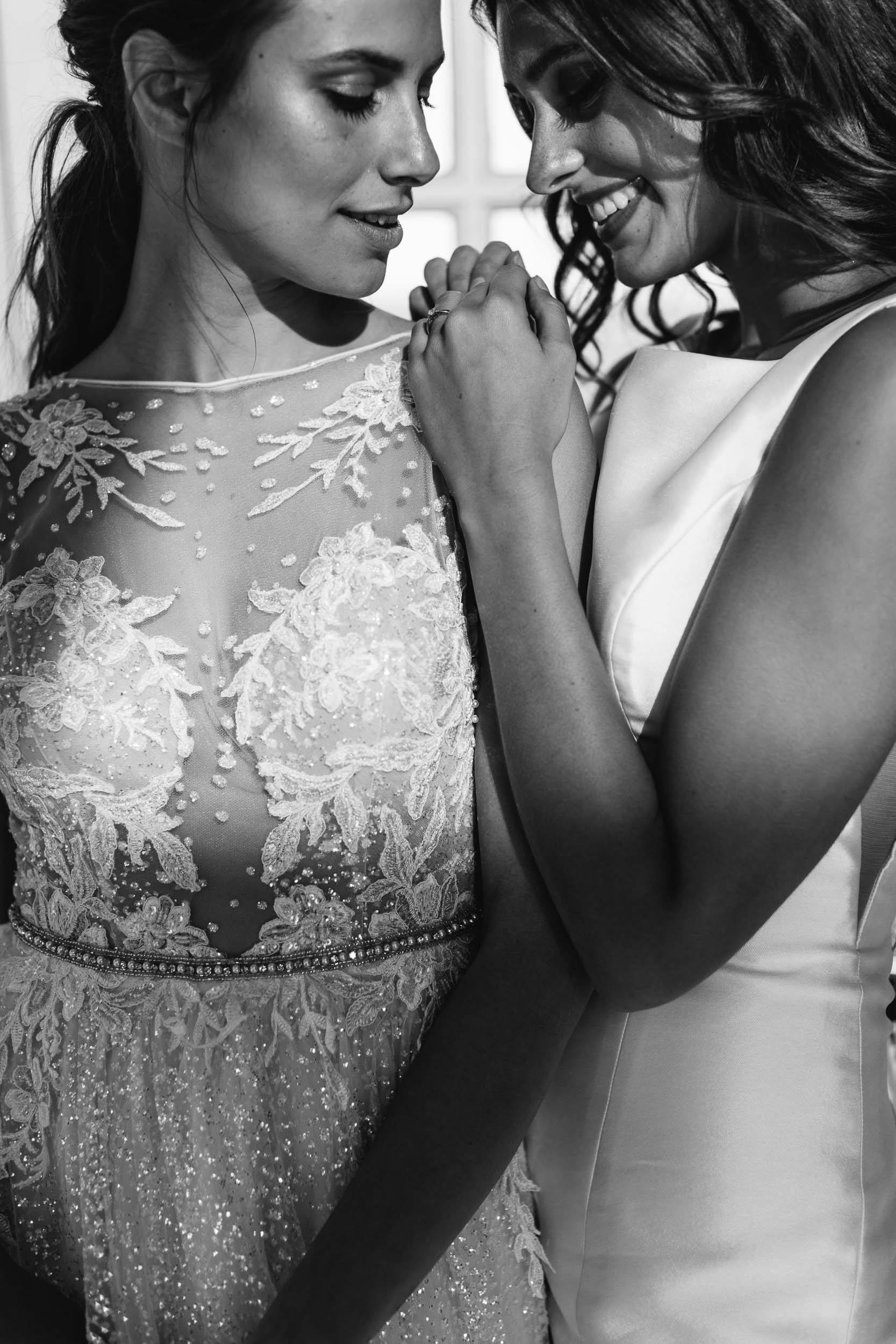 Black and White Photo of Same Sex Wedding | Wedding Photography by Kas Richards