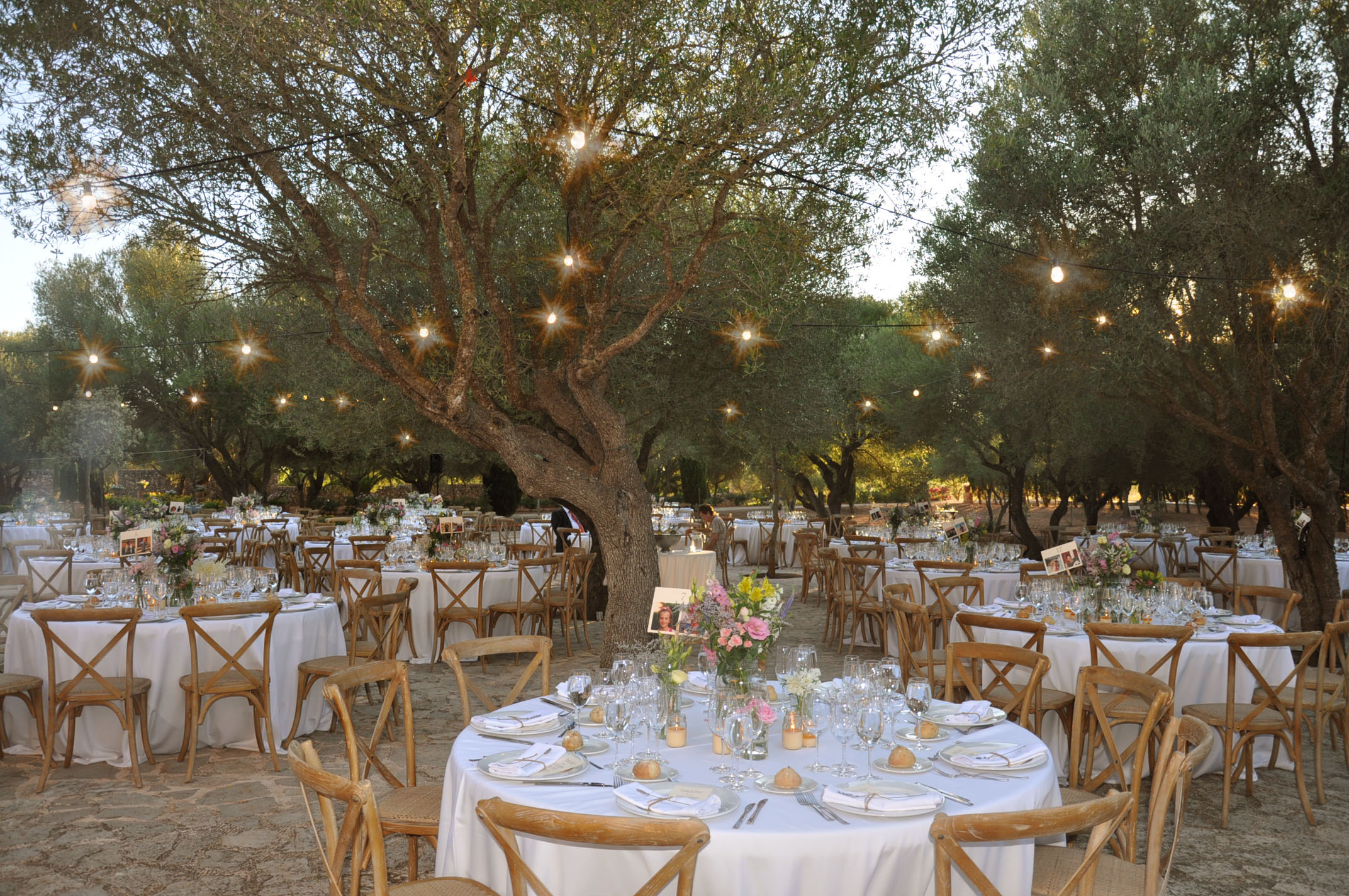 Lovely Rustic Wedding Set-up. Son Doblons, Spain