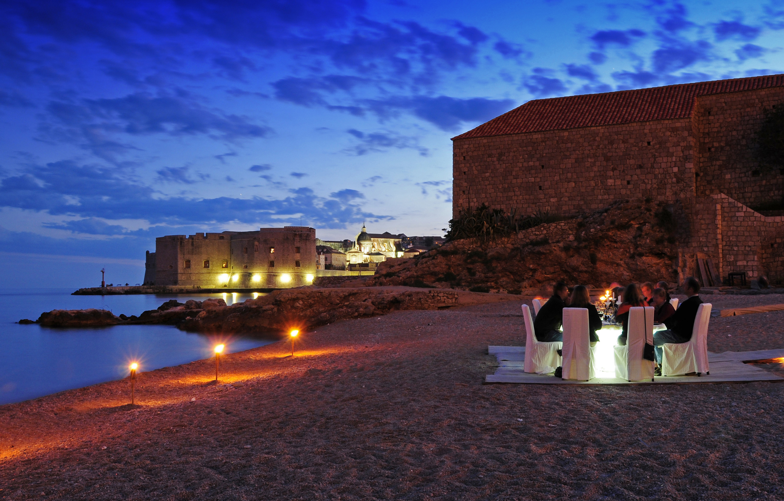 Beach Wedding Destination at Banje Beach, Croatia