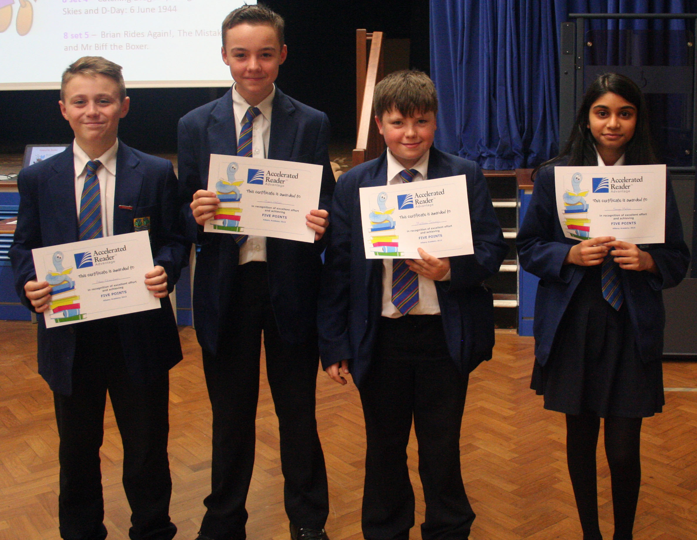 Year 8 reading assembly 003.JPG