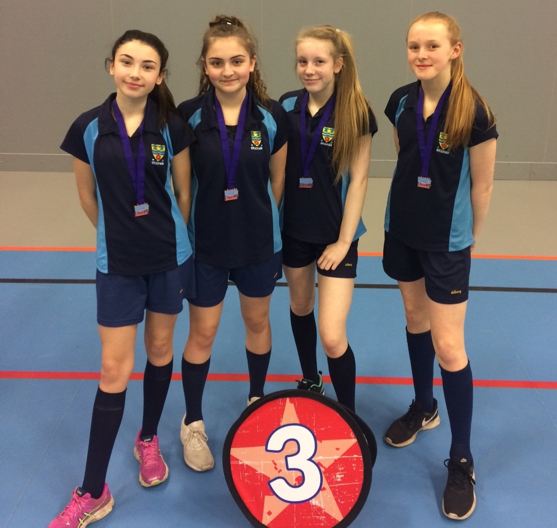 Year 8 girls team recieved medals as 3rd place overall