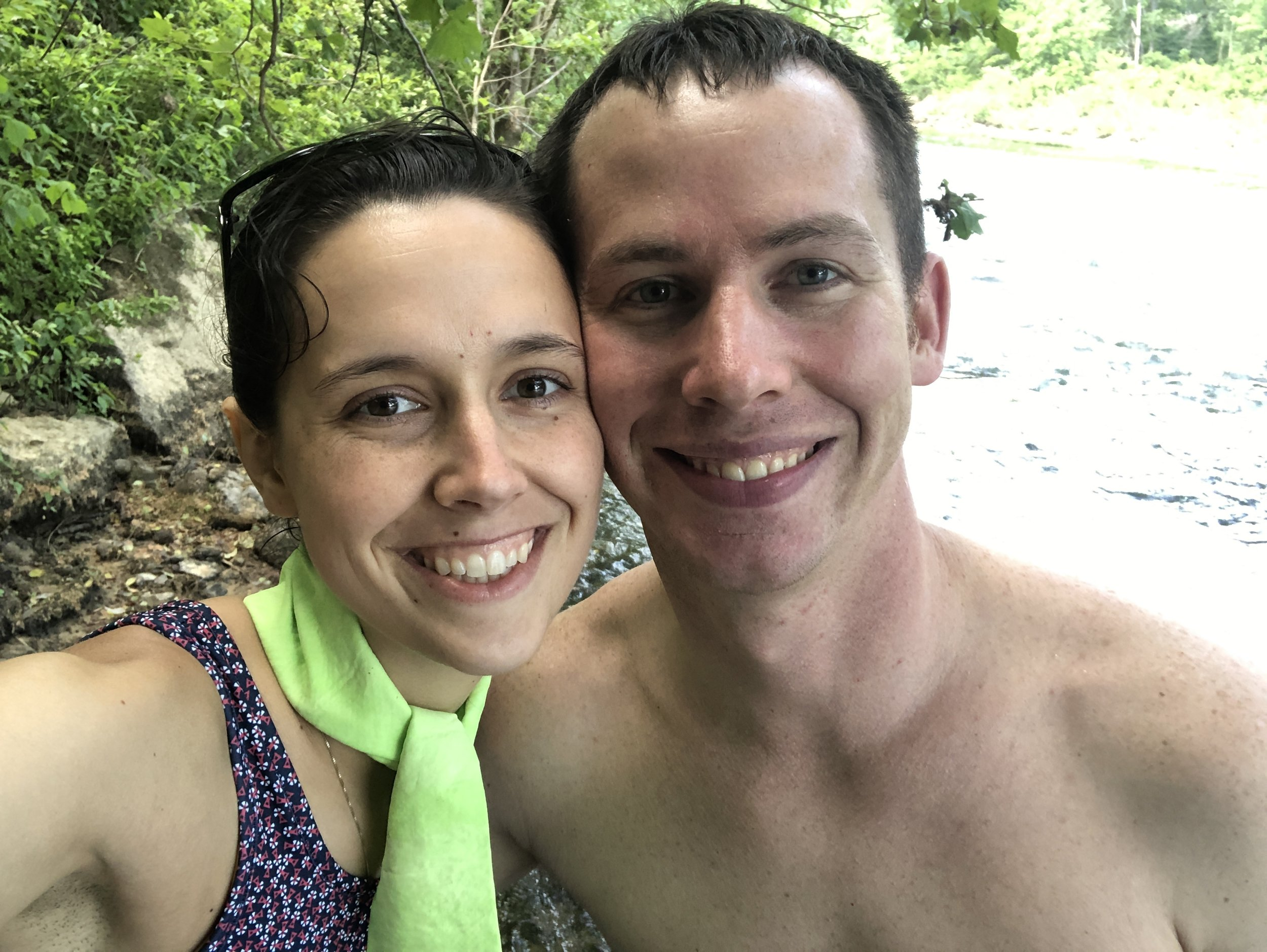 From our hike on the second day - out to the river where we enjoyed the refreshing water!