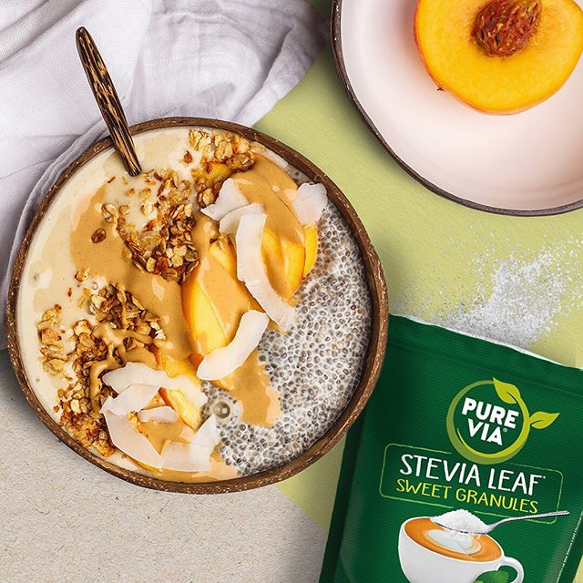 Love smoothie bowls? Be your own Insta-inspo and make your very own work of art with our Stevia Leaf Sweet Granules. A healthy and fun way to brighten up your day! 📷#pictureperfect