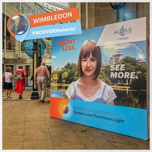The sun's out in #wimbledon town, the perfect time to come and see us with @acuvueuk and @bootsuk to get your free trial of ACUVUE® OASYS with Transitions™️ - the contact lens that adapts to the light!  #squintlessseemore  #acuvuehelsinki
