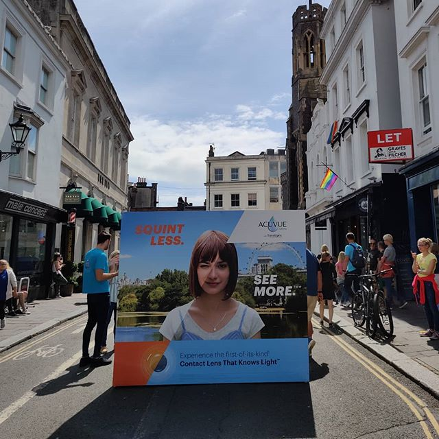 We're on the road today in Brighton with @acuvueuk and @bootsuk promoting the launch of ACUVUE® OASYS® with Transitions™. Come down and see us! . . . . . #contactlenses #boots #acuvue #agency #marketing #advertising