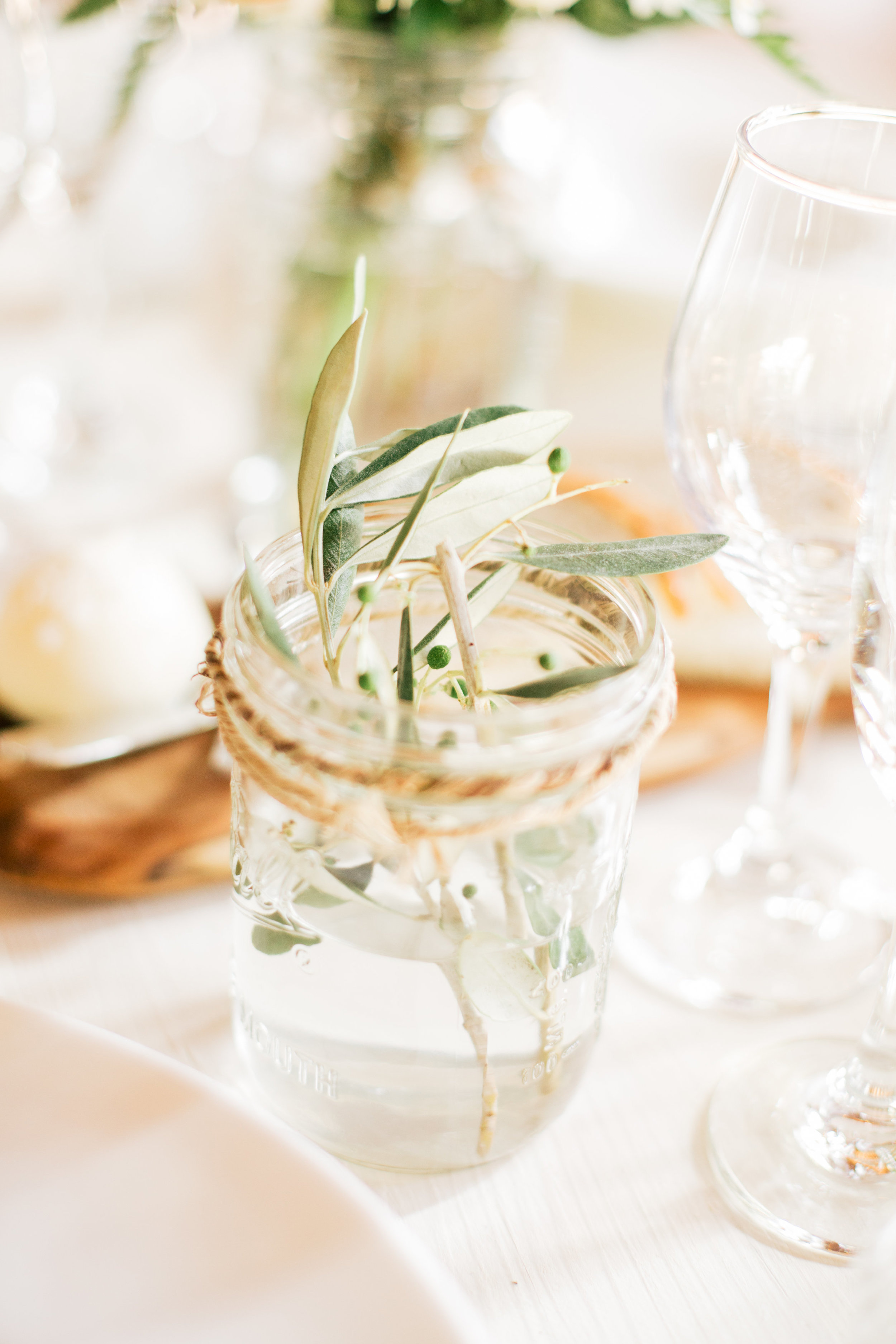 Rustic flower table decor and farm butter