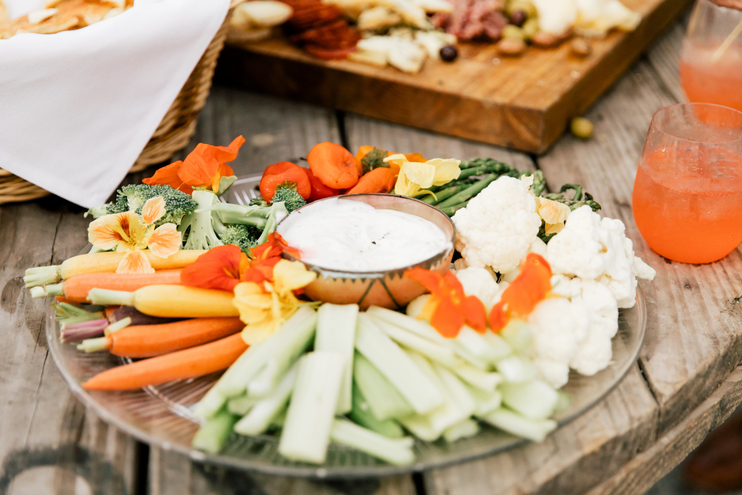 Crudite and canapes