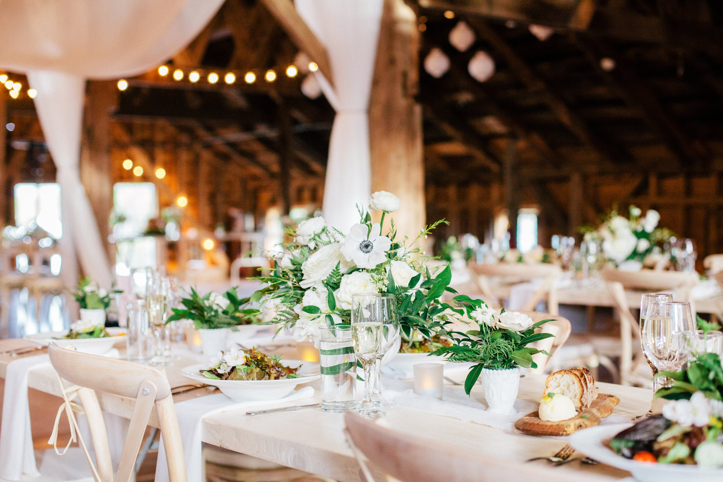 The historic barn at Blenheim just before the reception.
