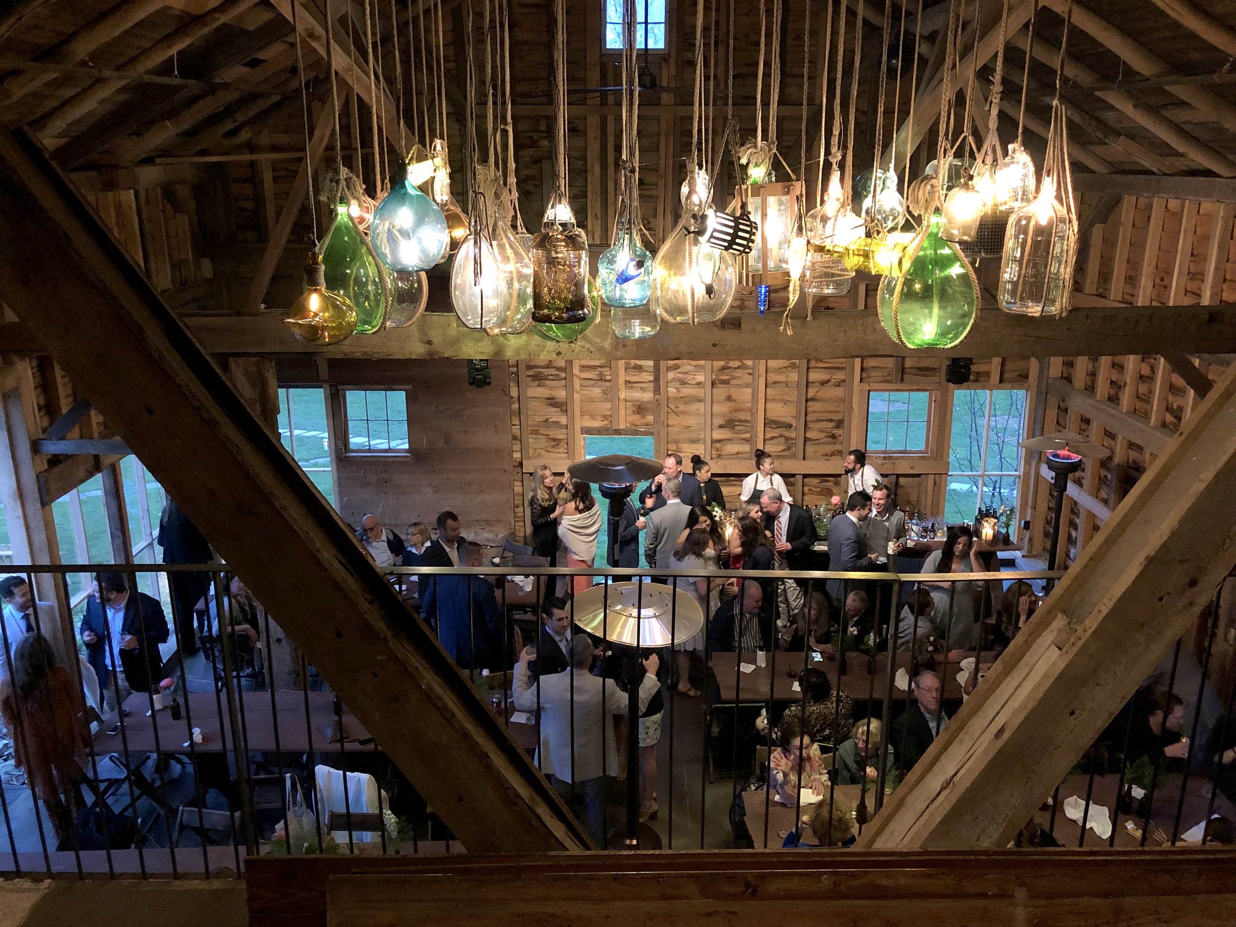 Rehearsal Dinner space called the Brewery Barn available on Friday before the wedding.