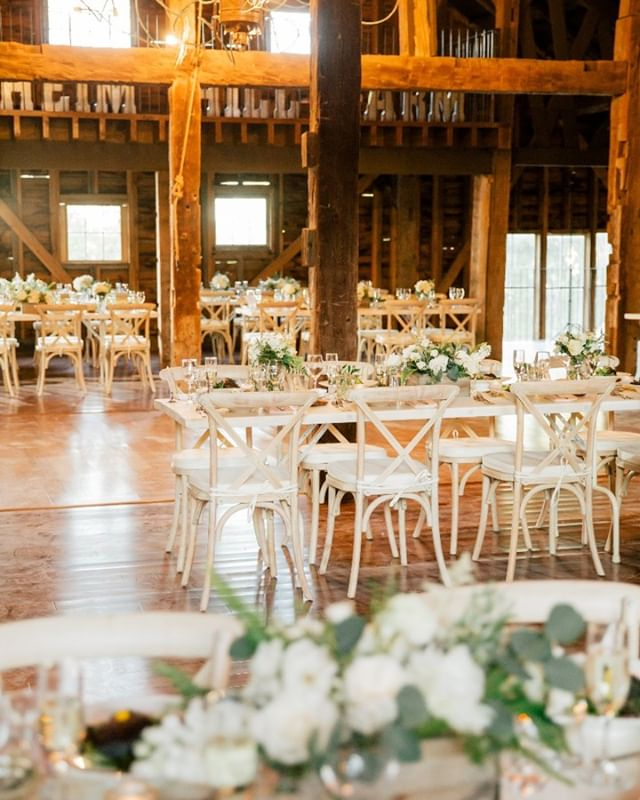 Interior details ... handmade tables and airy chairs keep the country-elegant vibes going inside.