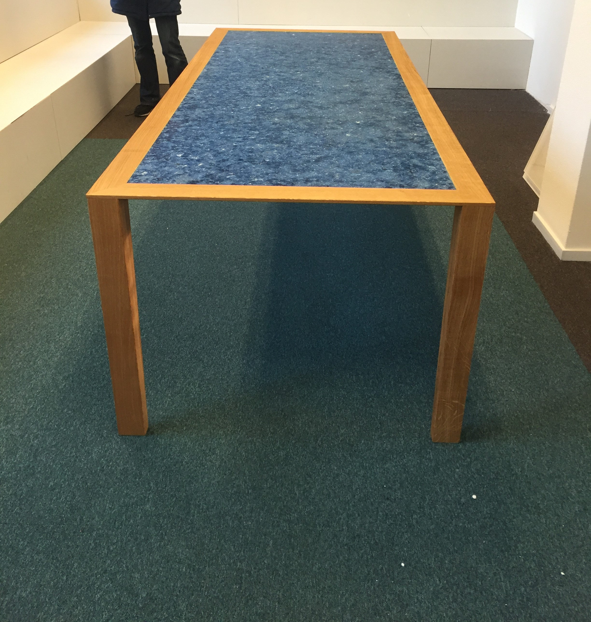 recycled clothes table