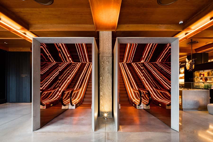 METROPOLIS  / 2018 / PUBLIC Hotel by Ian Schrager / Escalator enclosures